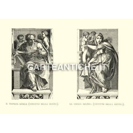 Il profeta Gioele e la Sibilla Delfica (soffitto della Sistina).