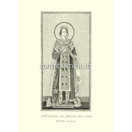 Santa Agnese dal mosaico del coro.