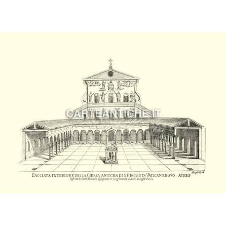 San Pietro: facciata interiore della chiesa antica