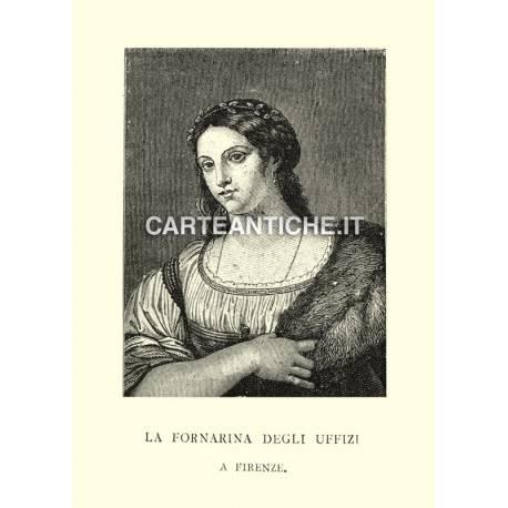 Ritratti: La Fornarina degli Uffizi a Firenze.