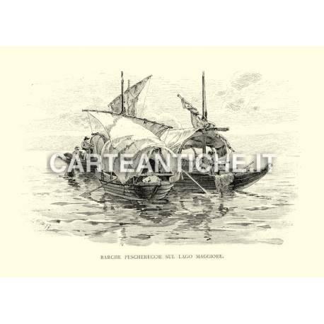 Barche peschereccie sul Lago Maggiore