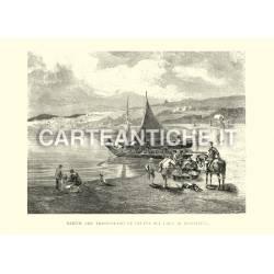 Barche che trasportano frutta sul Lago di Neuchatel