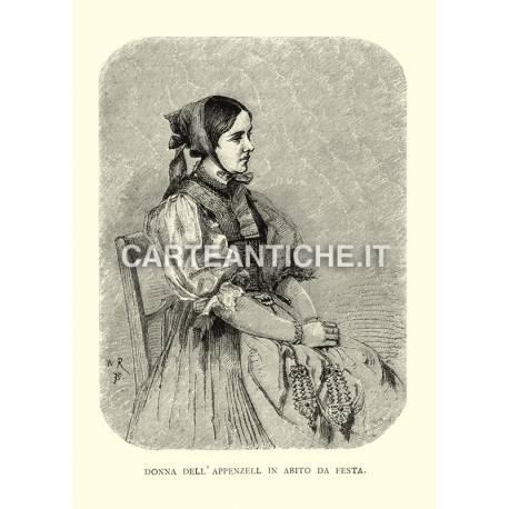 Donna dell'Appenzell in abito da festa