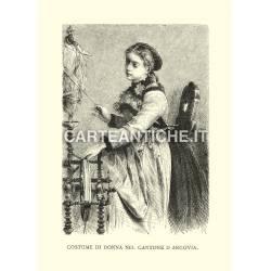 Costume di donna nel Cantone D'Argovia