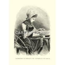 Lavoratrice di merletti nel cantone di San Gallo