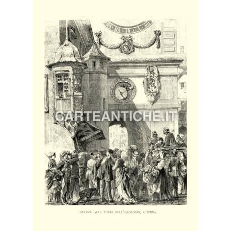 Davanti alla Torre dell'orologio a Berna
