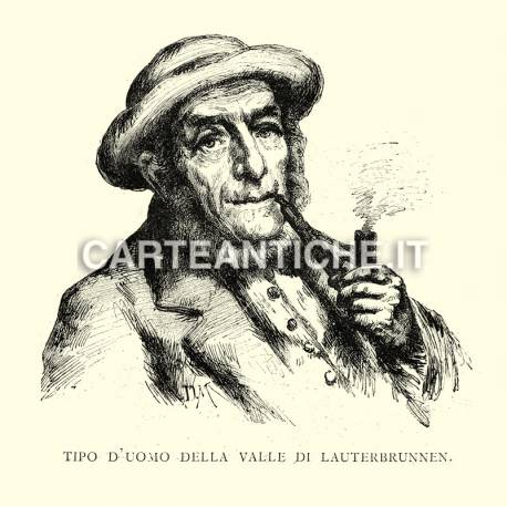 Tipo di uomo della Valle di Lauterbrunnen