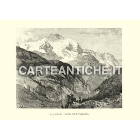 La Jungfrau veduta da Interlaken