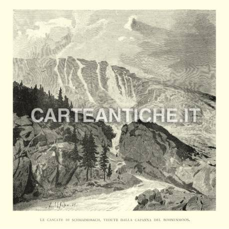Cascate di Schmadribach vedute dalla capanna del Bohnenmoos