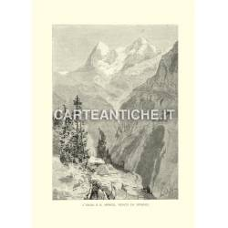 L'Eiger e il Monch, veduti da Murren