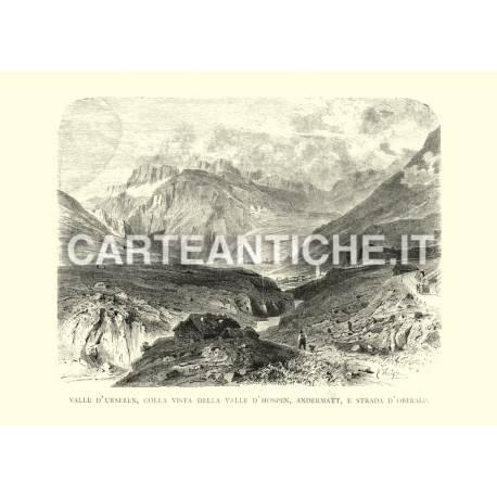 Valle d'Urseren, Valle d'Hospen, Andermatt, strada d'Oberalp