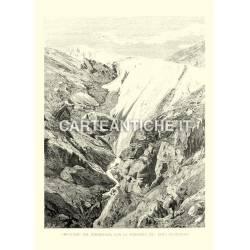 Ghiacciaio del Rheinwald, con la sorgente del Reno posteriore