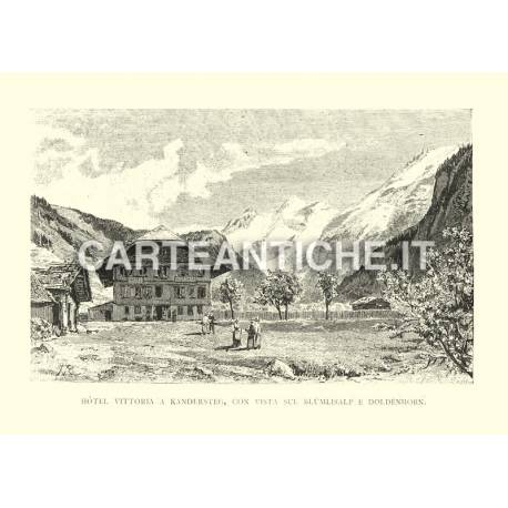 Hotel Vittoria a Kandersteg, con vista sul Blumlisalp e Doldenhorn