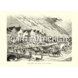 Coira veduta dall'Albergo dello Stambecco