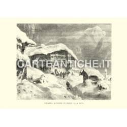 Locanda alpestre in mezzo alla neve