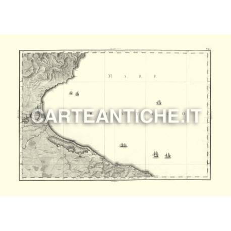 Capitanata verso L'Adriatico (1806)