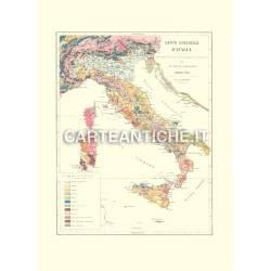 Mappa Italia Geologica del 1900.