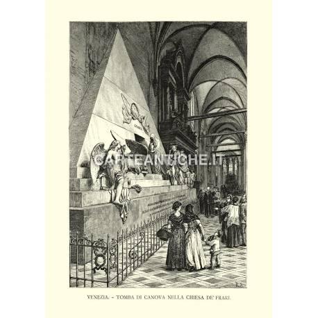 Venezia - Tomba di Canova nella chiesa de' Frari.