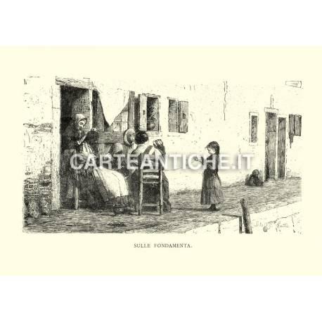 Veduta antica Veneto: sulle fondamenta.