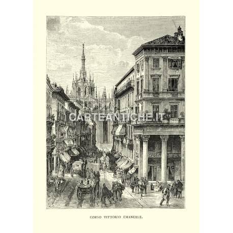 Milano: Corso Vittorio Emanuele.