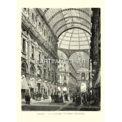 Milano, la Galleria Vittorio Emanuele.