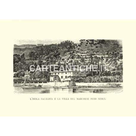 L'isola Palmaria e la villa del marchese Pieri Nerli