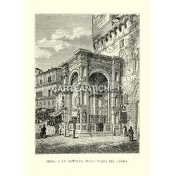 Siena. La cappella, sulla piazza del campo.