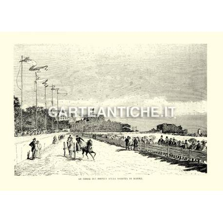 Le corse dei Birocci sulla spiaggia di Napoli.