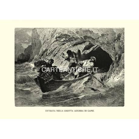 Entrata nella Grotta Azzurra di Capri.