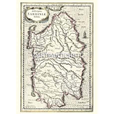 Immagini Della Cartina Geografica Della Sardegna.Carta Geografica Antica Della Regione Sardegna 02