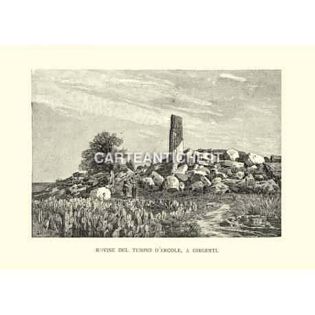 Rovine del Tempio d'Ercole, a Girgenti.