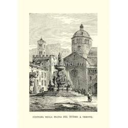 Fontana sulla Piazza del Duomo a Trento