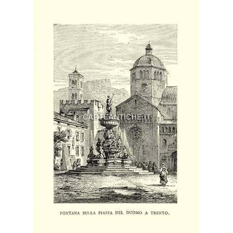 Fontana sulla Piazza del Duomo a Trento.