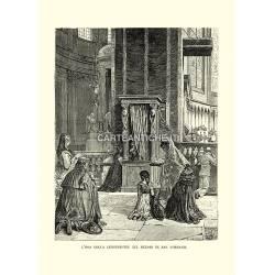 L'ora della confessione nel Duomo di San Lorenzo