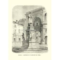 Milano, Monumento di Leonardo Da Vinci.