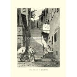 Veduta antica, una strada a Tremezzo