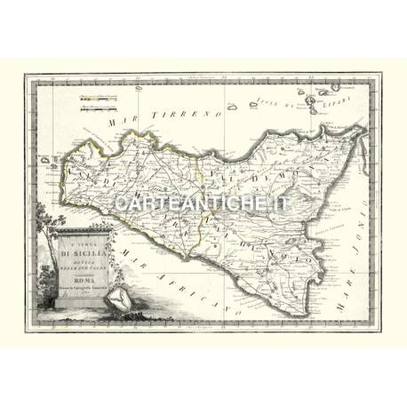 Sicilia, carta antica 03.