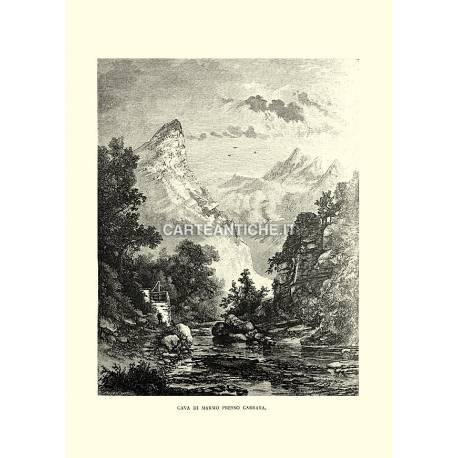 Cava di marmo presso Carrara.