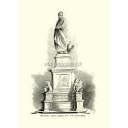 Monumento a Dante Alighieri, Piazza Santa Croce.