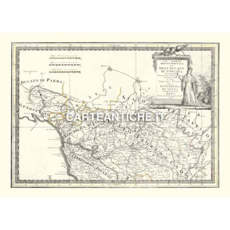Toscana, carta antica 01.
