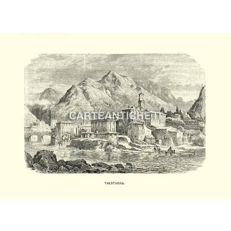 Veduta antica di Valstagna.