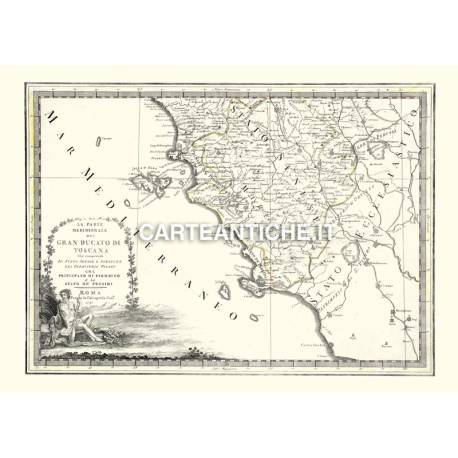 Toscana, carta antica 02.