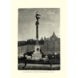 La colonna della vittoria in Piazza dei Martiri, a Napoli.