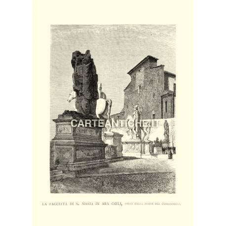 Facciata di S.Maria in Ara Coeli, piazza del Campidoglio.