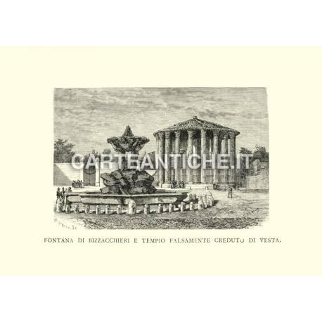 Fontana di Bizzacchieri e tempio falsamente creduto di Vesta.