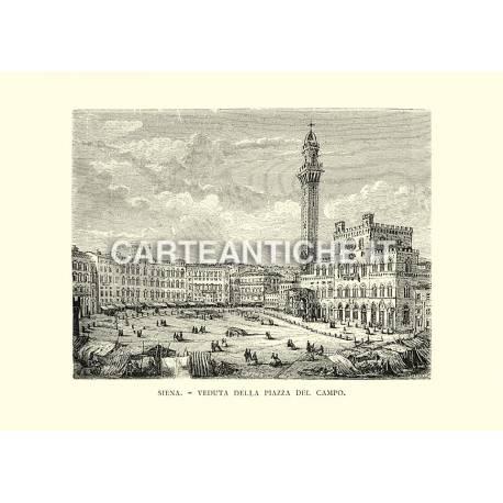 Siena - Veduta della Piazza del Campo.