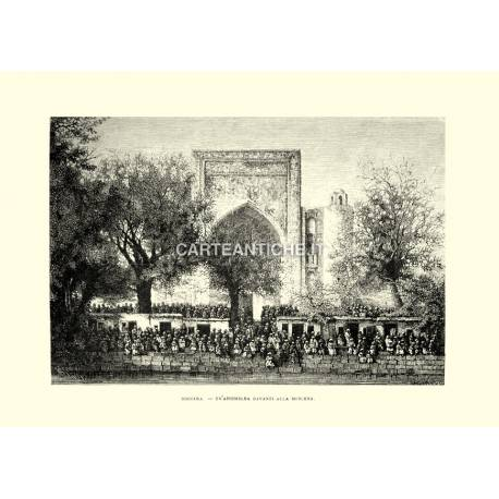 Boccara: un'assemblea davanti alla moschea.
