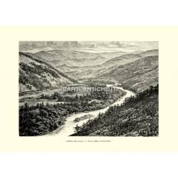 Veduta dell'Altai. Valle della Buchtarma.