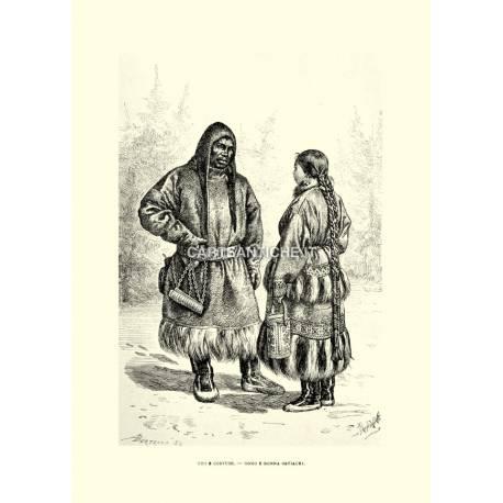 Costumi: Ostiachi (uomo e donna).
