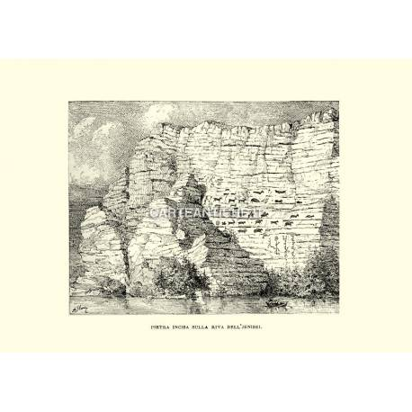 Pietra incisa sulla riva del Jenisei.